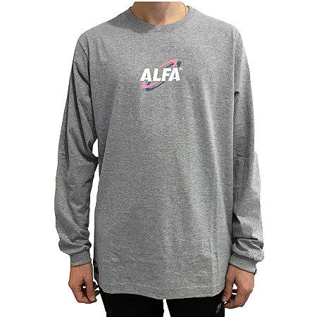 Camiseta Manga Longa Alfa New Age Mescla