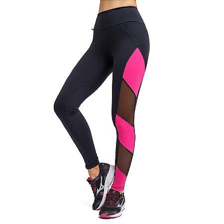 Legging Fitness Listras Lateral