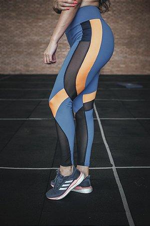Legging Fitness Recortes Tule e Cirré