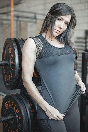 Camiseta Fitness Detalhe Tela