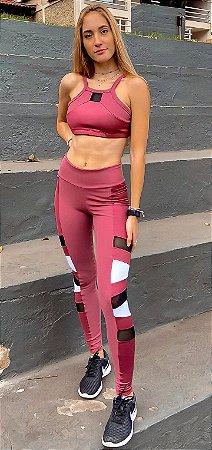 Conjunto Fitness Cintura Alta Fashion