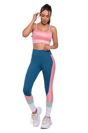 Conjunto Fitness Cintura Alta Cool Candy