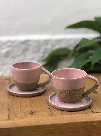 Xícara de Chá Bojuda com pires