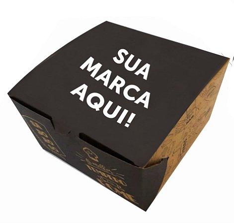 CAIXA PARA HAMBÚRGUER OU LANCHES - KRAFT  PERSONALIZADO - 500 UNIDADES