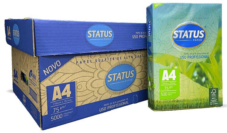 A4 - Papel Sulfite - Papéis | CAIXA com 10 pcts de 500 folhas cada