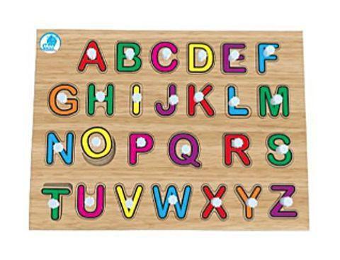 Quebra-Cabeça Pinos Alfabetização