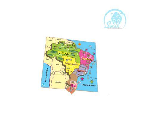 Quebra-Cabeça Mapa Regiões