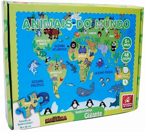 Quebra-Cabeça Gigante - Animais do Mundo