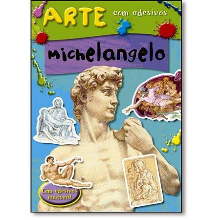 LIVRO  ARTE COM ADESIVOS MICHELANGELO