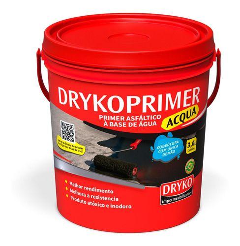 Primer Manta Liquida Asfáltico 3,6l Emulsão Asfáltica- Dryko