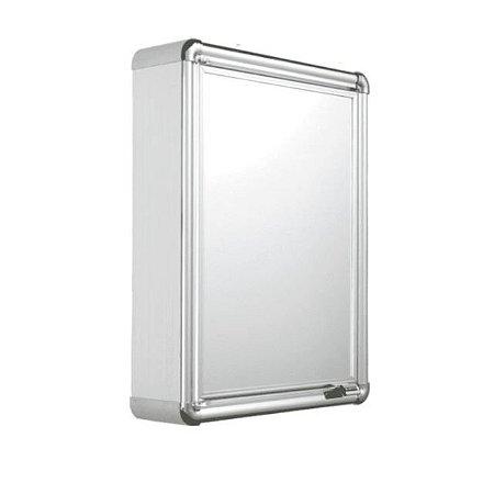 Armário Banheiro Sobrepor Alumínio Lbp12s - Astra 35 X 45 Cm