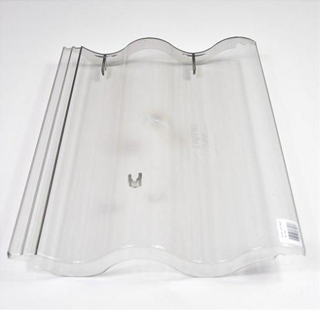 Kit 10 Telhas Transparente Leve / Brastelha / Slim - Injetada