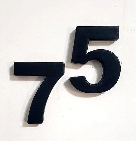 Números Residenciais Preto 15cm caixa alta 3D