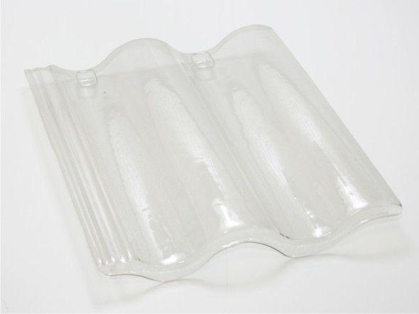 Kit 30 Telhas Transparente PET Voga