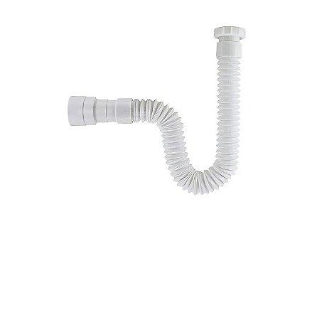 Sifão Sanfonado/extensivo Universal Abs Branco Astra