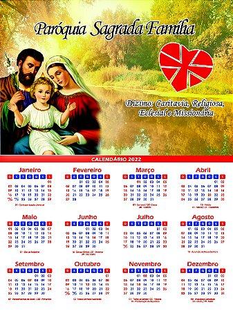 Calendário Padroeiro Sagrada Família 2022