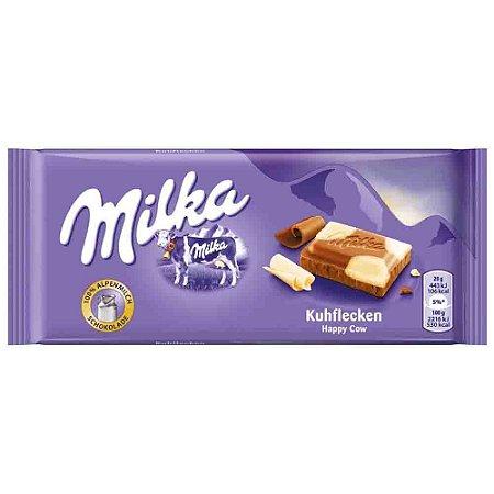 Chocolate Ao Leite e Branco Milka Happy Cows 100G Importado