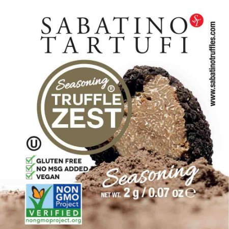 Kit 5 Sache Pó de Trufa Negra Truffle Zest Sabatino Tartufi