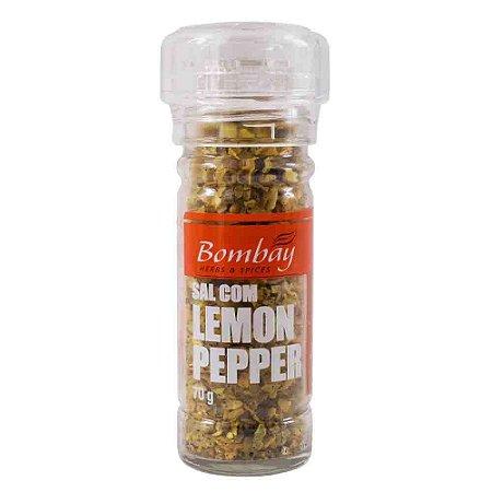 Tempero Moedor Sal Com Lemon Pepper Bombay 70 G