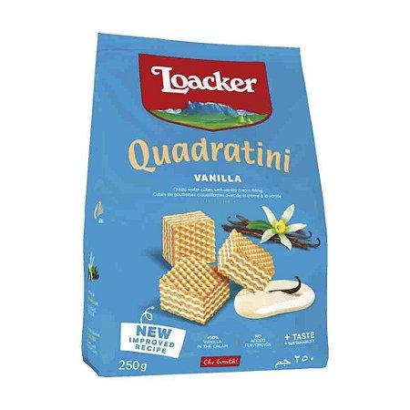 Biscoito Waffer Loacker Quadratini Baunilha 125g