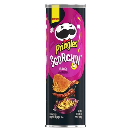 Batata Chips Pringles Scorchin BBQ Apimentada Barbecue 158G