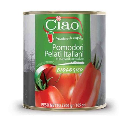 Tomate Italiano Pelati Biologico Organico Ciao 2,5 kg c/ NF