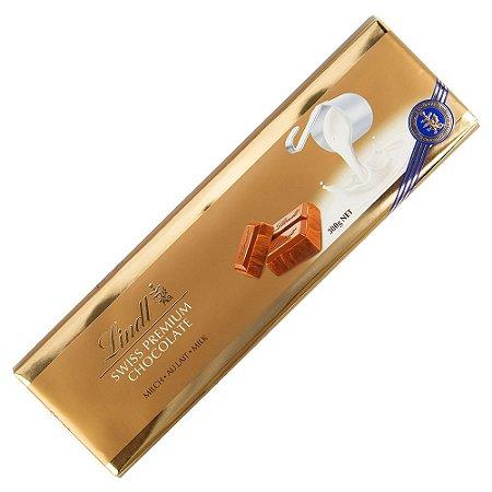 Chocolate Lindt Swiss Gold Bar Milk ao Leite Premium 300 G