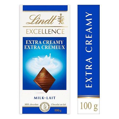 Chocolate Lindt Excellence Extra Creamy ao Leite 100 gr