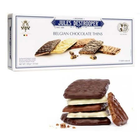 Biscoito Belga Jules Destrooper Chocolate Thins 100G