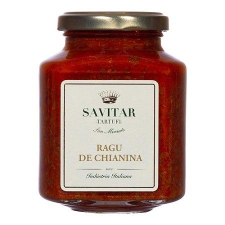 Molho Ragu De Gado Chianina Savitar Italiano 270 Gr