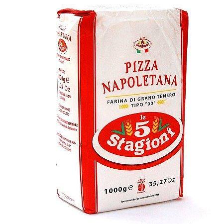 Farinha De Trigo Italiana 00 Le 5 Stagioni Napoletana 1kg