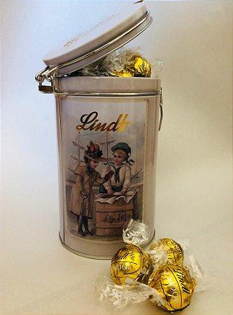 Lata Comemorativa Chocolate Lindt Lindor Branco Cremoso 450g