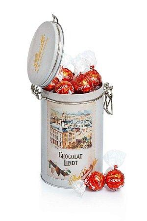 Lata Comemorativa Chocolate Lindt Lindor ao Leite 450g