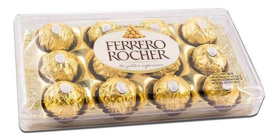 Bombom Ferrero Rocher Avelã Caixa com 12 Un 150 gr