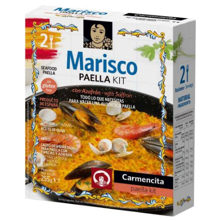 Kit Paella Frutos do Mar Espanhol Carmencita 255 gr
