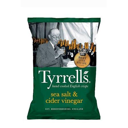 Batata Chips Sabor Sal Marinho e Vinagre Tyrrells 150 gr