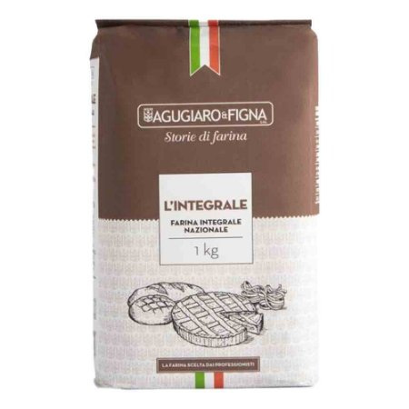 Farinha De Trigo Italiana Integral Agugiaro & Figna 1Kg