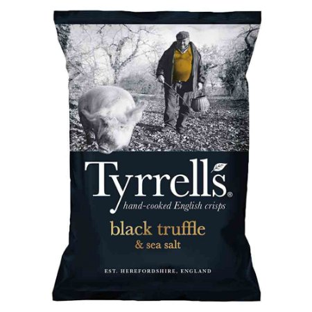 Batata Chips Sabor Trufas Negras Sal Marinho Tyrrells 150 gr
