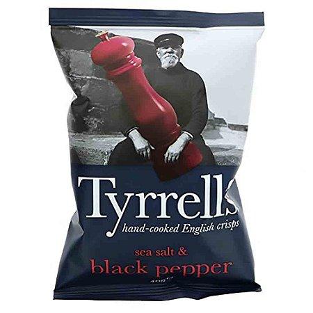 Batata Chips Pimenta do Reino Black Pepper Tyrrells 150 gr