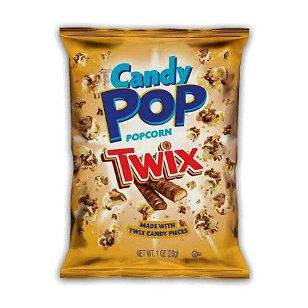 Pipoca Candy Pop Popcorn Twix Coberta De Caramelo 28 gr