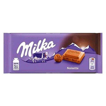 Chocolate Milka Noisette  Creme de Avelãs 100g Importado