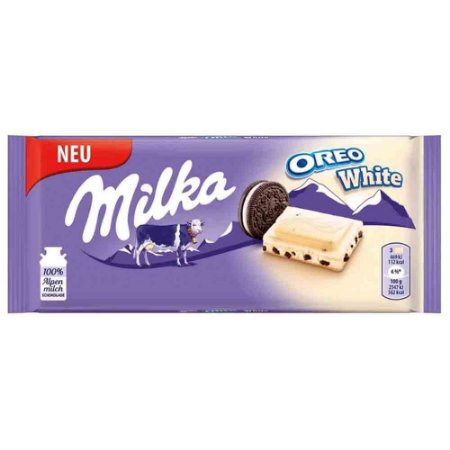 Chocolate Milka Chocolate Branco Oreo White 100 gr Importado