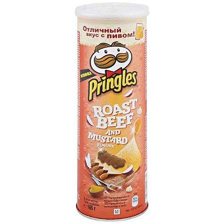 Batata Chips Pringles Roast Beef & Mustard Importada 165g