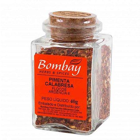 Tempero Pimenta Calabresa Bombay Vidro 40 gr
