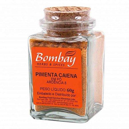 Tempero Pimenta Caiena em Pó Bombay Vidro 60 gr