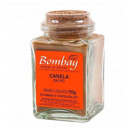 Tempero Canela Em Pó Bombay Vidro 50 gr