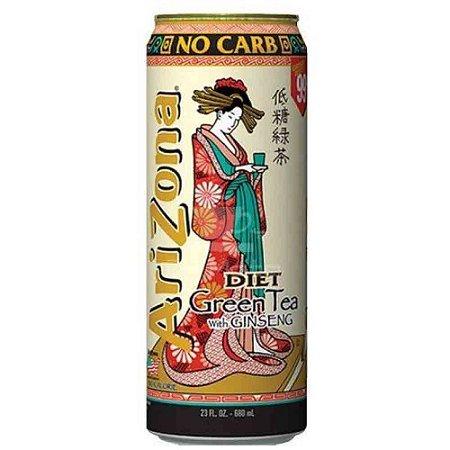 Chá Verde com Ginseng Diet Green Tea  Diet Arizona 680ml
