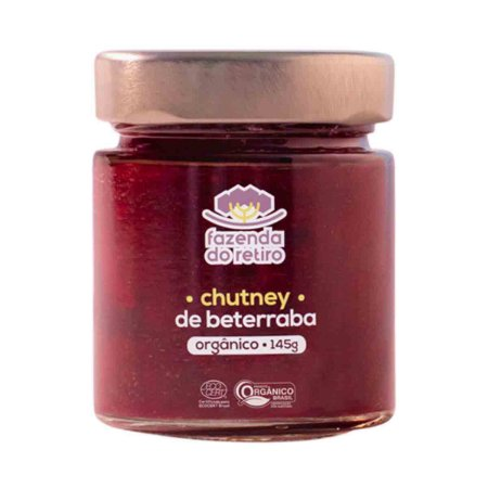 Chutney de Beterraba Organico Vegano Fazenda Retiro 145 gr