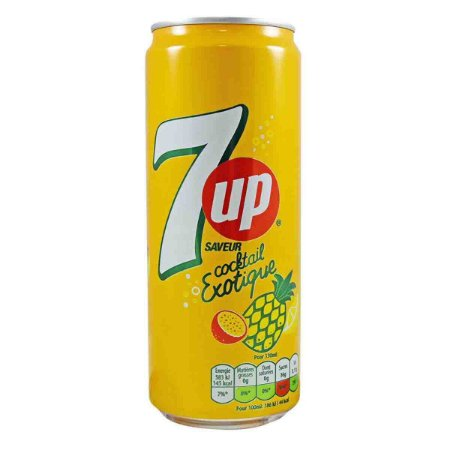 Refrigerante 7UP Exotic Cocktail Abacaxi Maracuja 330 ml