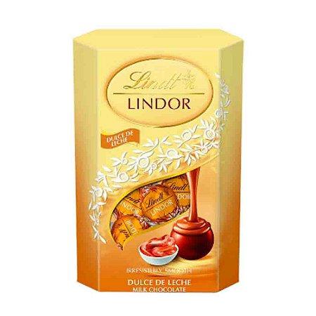Chocolate Lindt Lindor Milk Balls Recheio Doce de Leite 200g